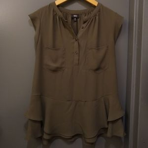 Mossimo Army Green Top